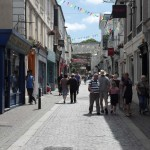 The cobbled streets of Falmouth Town, filled with great shops, pubs & restaurants